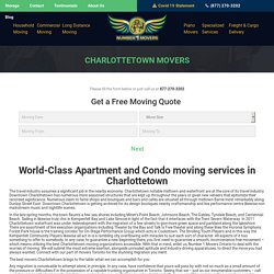 Commercial Office Condo Furniture Movers, Local Residential Apartment Long Distance Cross Country Movers & Moving Company Charlottetown
