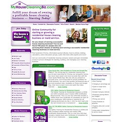 How to start and grow a residential house cleaning business or maid service.