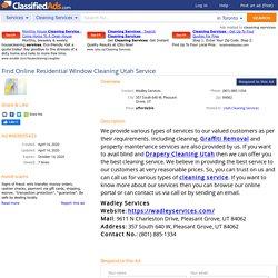 Find Online Residential Window Cleaning Utah Service