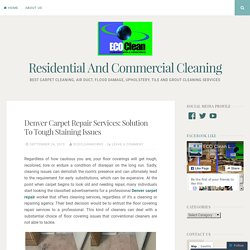 Denver Carpet Repair Services: Solution To Tough Staining Issues