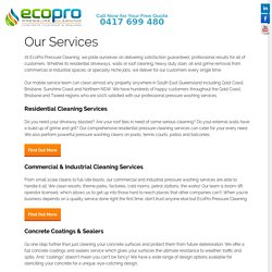 Residential, Commercial, Industrial Pressure Cleaning