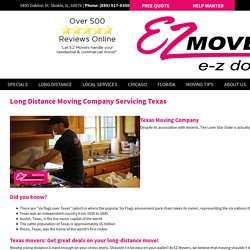 Long Distance Moving Services in Texas - E-Z Movers