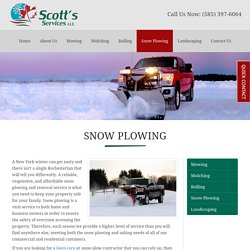 Residential & Commercial Snow Plowing Webster