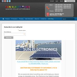 Solar Panels, PV Systems, Inverters | 98¢/W