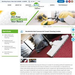 Residential Carpet Cleaning - Commercial Carpet Cleaning London