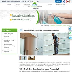 Residential & Commercial Building Cleaning London