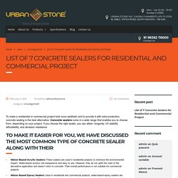 Best 7 Concrete Sealers for Residential and Commercial Project