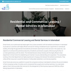 Residential and Commercial Rental Services Islamabad