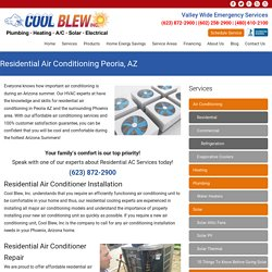 Residential Air Conditioning Peoria AZ