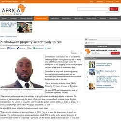 Zimbabwean property sector ready to rise - Africa Property News