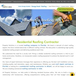 Residential Roofing Services in Miami, Florida