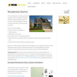 Residential Alarms Edmonton, Home Alarm Systems Edmonton