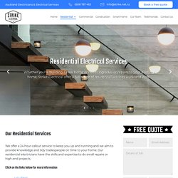 Residential Electrical Services - Strike Electrical