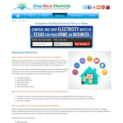 Compare Residential Electricity Rates and Plans Texas