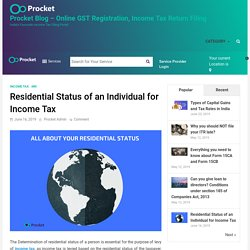 Residential Status of an Individual for Income Tax