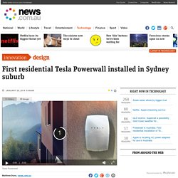 Powerwall in Australia: First residential installation of Tesla's new product complete