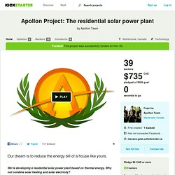 Apollon Project: The residential solar power plant by Apollon Team