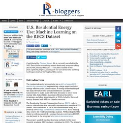U.S. Residential Energy Use: Machine Learning on the RECS Dataset