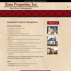 Residential Property Management Rochester NY - Zona Properties