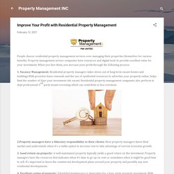 Improve Your Profit with Residential Property Management