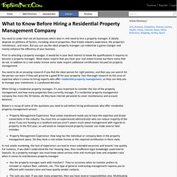 What to Know Before Hiring a Residential Property Management Company