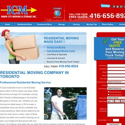 Residential Movers Toronto, Mississauga
