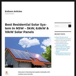 Residential Solar Panels From The Best Solar Installer NSW