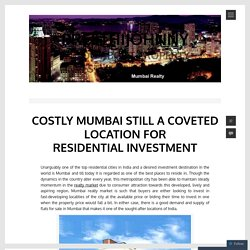Costly Mumbai Still a Coveted Location for Residential Investment