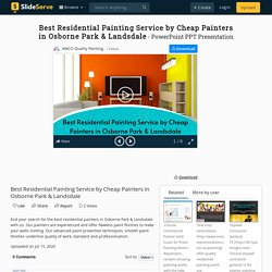 Best Residential Painting Service by Cheap Painters in Osborne Park & Landsdale