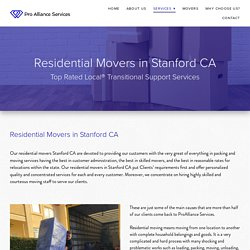 Residential Moving - Moving Company In The Bay Area - ProAlliance Services