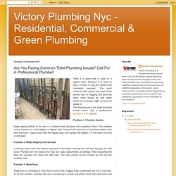 Victory Plumbing Nyc - Residential, Commercial & Green Plumbing : Are You Facing Common Toilet Plumbing Issues? Call For A Professional Plumber!