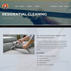 Residential Cleaning in Dubai, Professional House Cleaning Services UAE