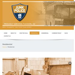 Residential junk removal Tucson