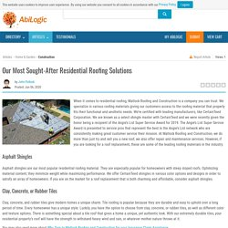 Our Most Sought-After Residential Roofing Solutions