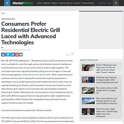 Consumers Prefer Residential Electric Grill Laced with Advanced Technologies