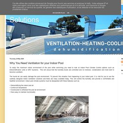 Commercial and Residential Ventilation Solutions: Why You Need Ventilation for your Indoor Pool