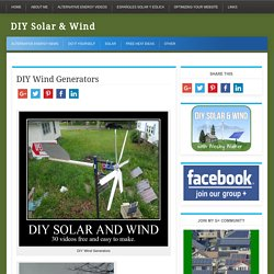 DIY Residential Wind Generators