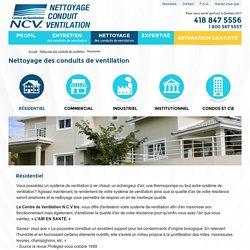 Nettoyage résidentiel - Ventilation N.C.V.
