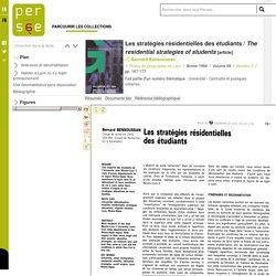 Les stratégies résidentielles des étudiants / The residential strategies of students