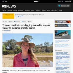 Tharwa residents are digging in mud to access water as bushfire anxiety grows