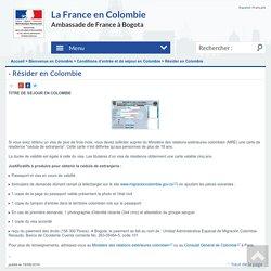 Résider en Colombie
