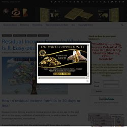 Residual Income Formula What Is It Easy-peasy Tips