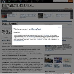 Mark Hurd Resignation: Top 10 Candidates to Replace Him - Deal Journal