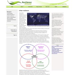 Resilience Alliance - Urban resilience