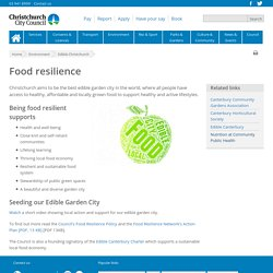 Food resilience : Christchurch City Council
