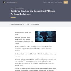 Resilience Coaching and Counseling: 29 Helpful Tools and Techniques