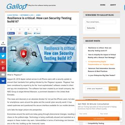 Resilience is critical. How can Security Testing build it?
