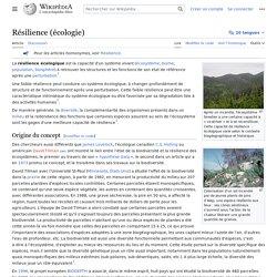 Résilience (écologie)