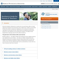 Resilience Guide for Parents & Teachers