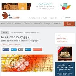 La résilience pédagogique - Thot Cursus